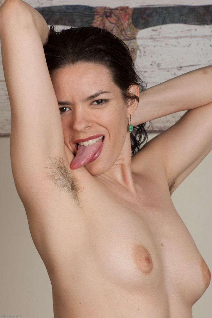 Lucia Licking Hairy Pits